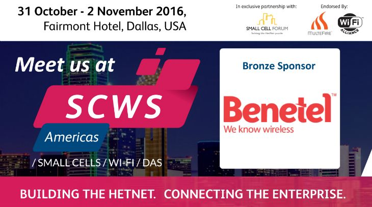 Benetel exhibiting at Small Cells World Summit Americas (31 Oct – 2 Nov) | Benetel